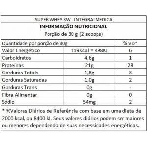 SUPER WHEY 3W 1,8G INTEGRALMEDICA