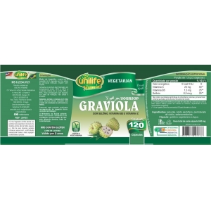 GRAVIOLA 500MG - 120 CAPS - UNILIFE