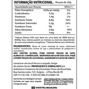 CHOCOLATE 70% ZERO AÇÚCAR 20G CIA DO CACAU